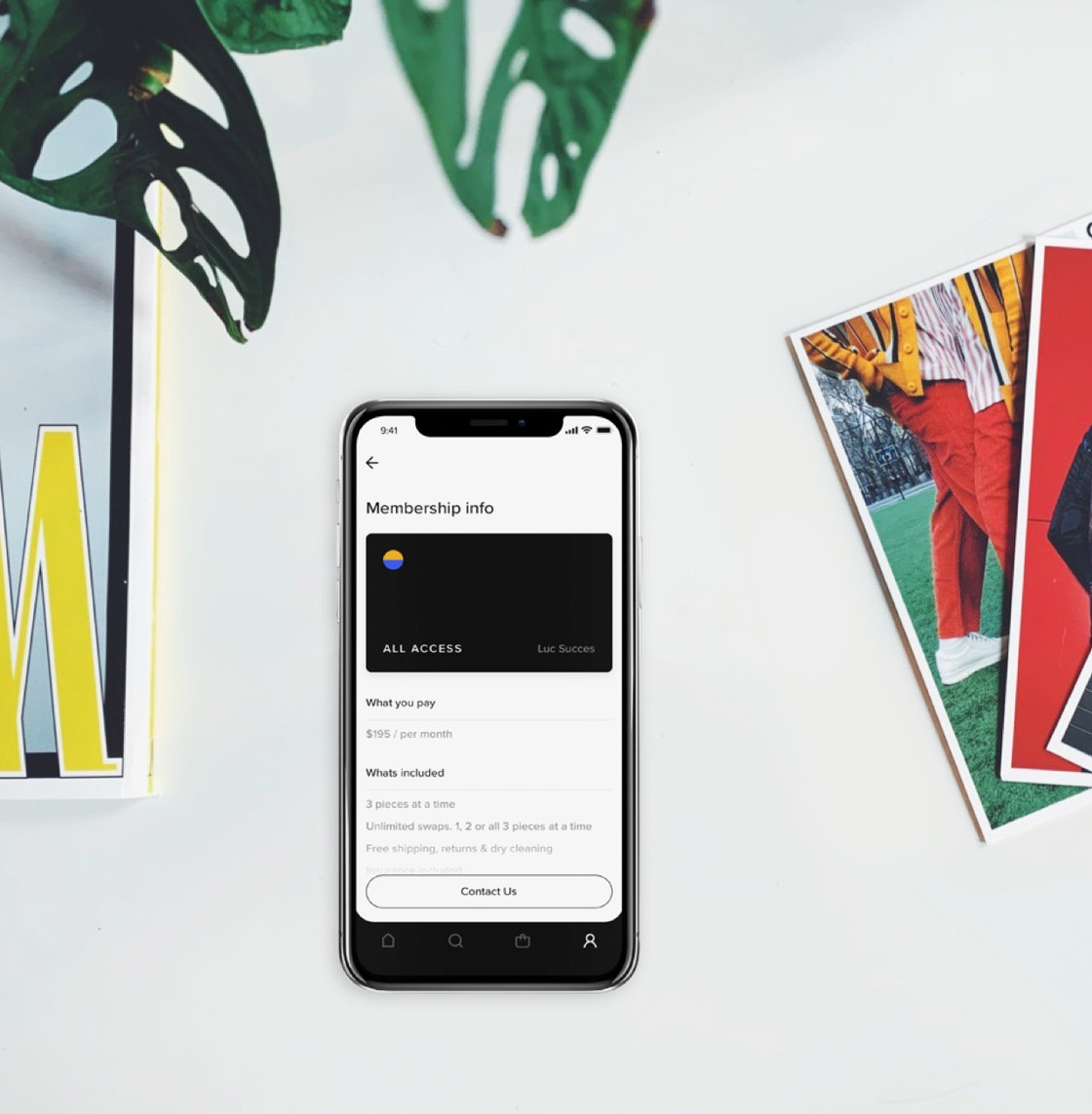 image of the iOS app